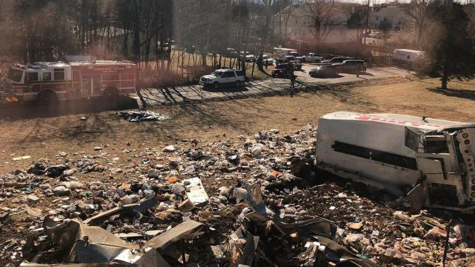 Train carrying #GOP Congress members hits garbage truck, one dead! [details]
