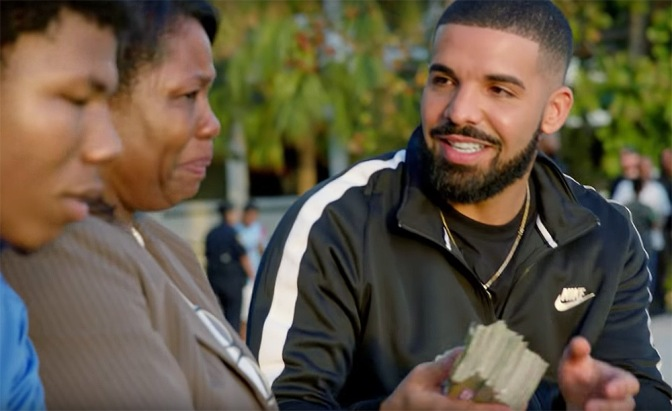 NEW VIDEO: #Drake gives away over 990k away in #GodsPlan video! [vid]