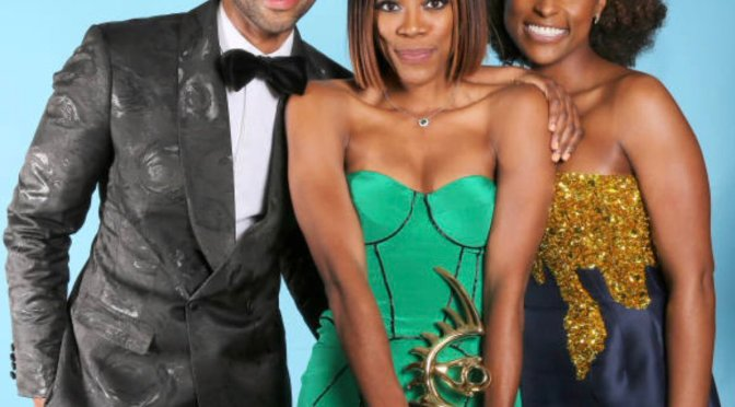 HOT SHOT of the Day-#InsecureHBO stars #IssaRae #JayEllis + #YvonneOrji at #ABFFHonors! [pics]