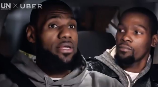 WATCH #LebronJames 'Rolling With The Champion' with #KevinDurant [vid]