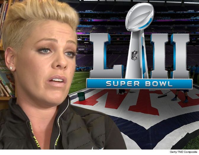 #Pink's #SuperBowlLII performance in JEOPARDY! Singer BATTLING the FLU! [details]