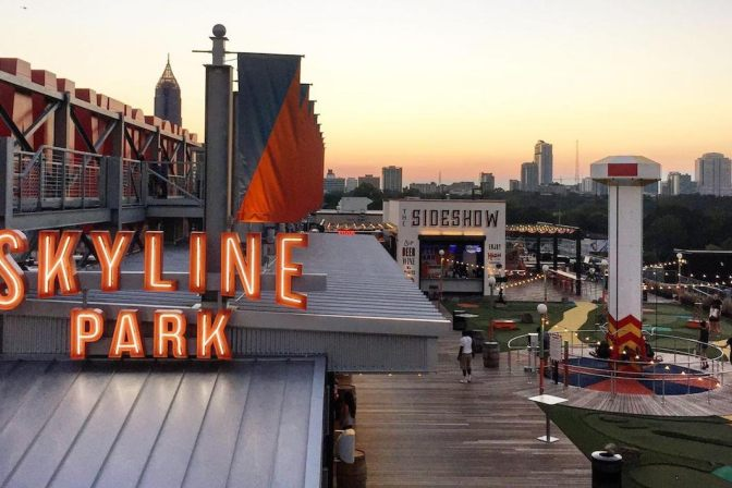 Attractions: Atlanta's Rooftop amusement center- #SkylinePark! [vid]