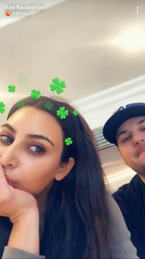 kim-kardashian-west-rob-kardashian-saint-patricks-day-snapchat