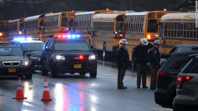 Lone resource officer's quick action stopped the #Maryland school shooter within seconds! [details]
