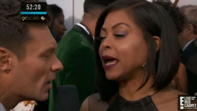 #Oscars: Did #TarajiPHenson take a DIG at #RyanSeacrest on the red carpet!? [vid]
