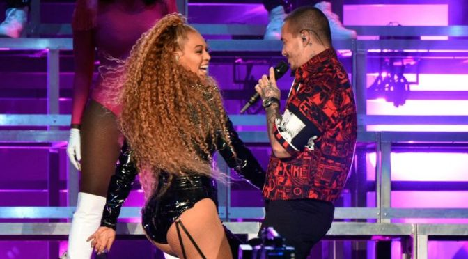 #Coachella- #Beyonce brought #JBalvin onstage at #Beychella2 for 'Mi Gente' [vid]