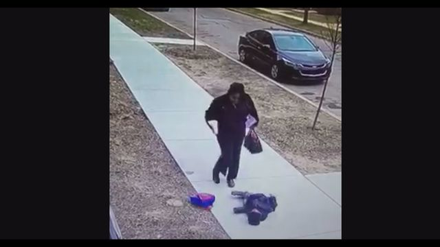VIOLENT child abuse of 2-year old caught on tape! Woman kicks and shakes the child out oh his shoes! [vid]