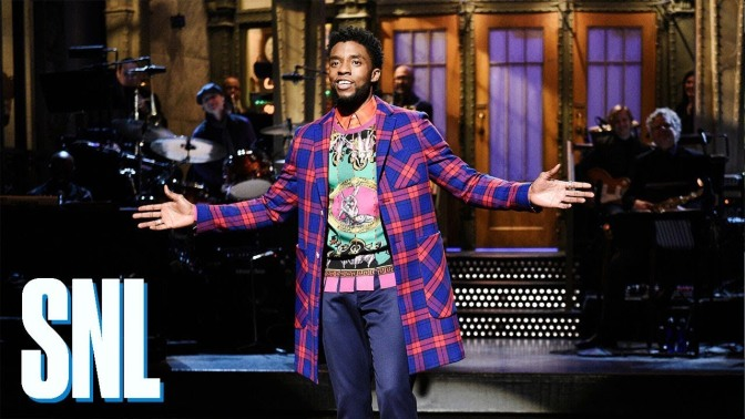 The BEST moments of #CardiB & #ChadwickBoseman on #SNL! [vids]