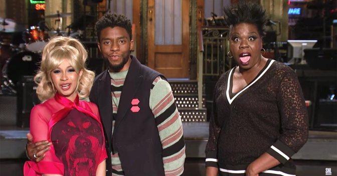 #ChadwickBoseman HOSTS #SNL with musical guest #CardiB TONIGHT! [vid]