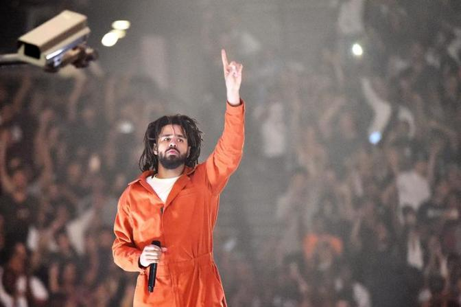 #JCole makes HISTORY again with #KOD-1st artist to debut 3 songs at once on the TOP 10! [details]