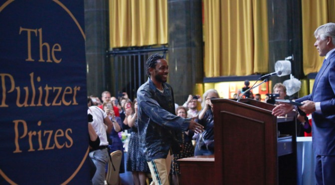 WATCH: #KendrickLamar ACCEPTS his #PulitzerPrize! [vid]