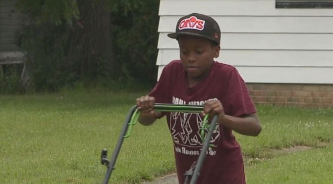 #ReginaldFields, the Ohio kid who had cops called for mowing the lawn gets a BOOST! [vid]