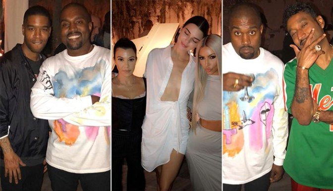 #KimKardashian threw an EPIC 41st bday party for #Kanye! GO INSIDE the festivities! [vid]