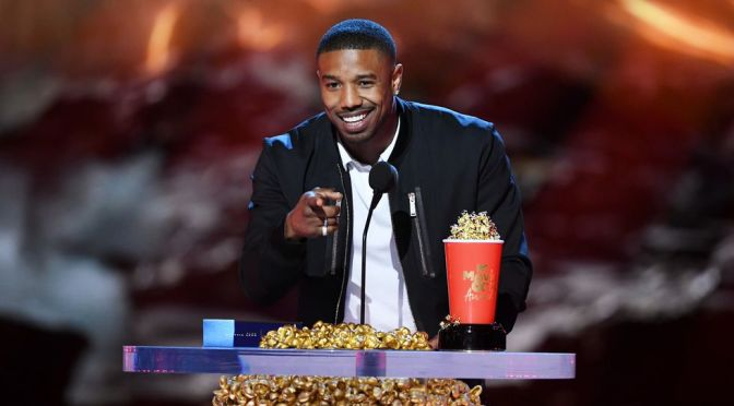 #MichaelBJordan takes a JAB at #RoseanneBarr at #MTVMovieAwards! [vid]