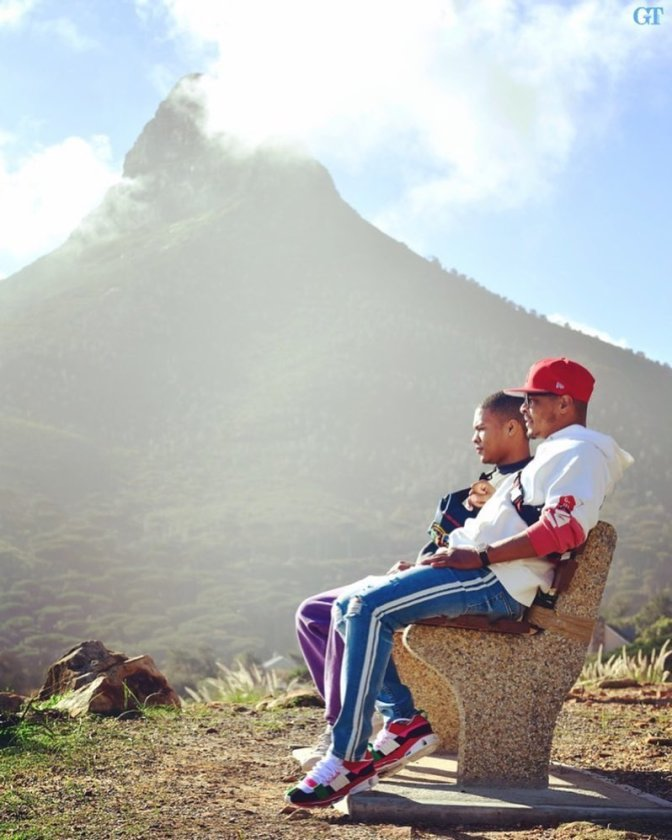 STAR TRACKS: #TI takes his son to Africa for graduation![pics]