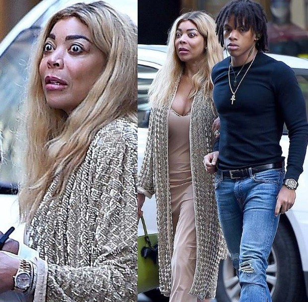 STAR TRACKS: #WendyWilliams spotted looking STARTLED in NYC with her son! [pics]