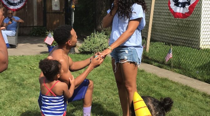 Put A Ring On It! #ChanceTheRapper got ENGAGED at #4thofJuly BBQ! [vid]