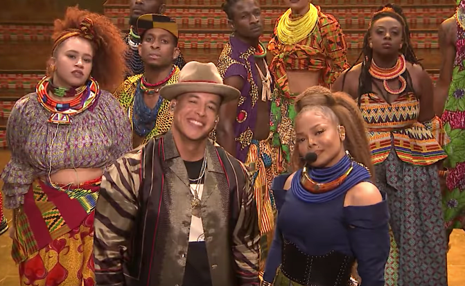 #JanetJackson DEBUTS 'Made For Now' on #JimmyFallon with #DaddyYankee! [vid]