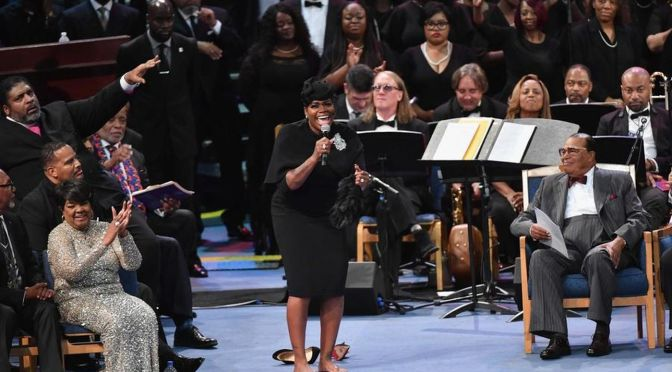 #ArethaHomegoing: #Fantasia does a musical TRIBUTE for the AGES! [vid]