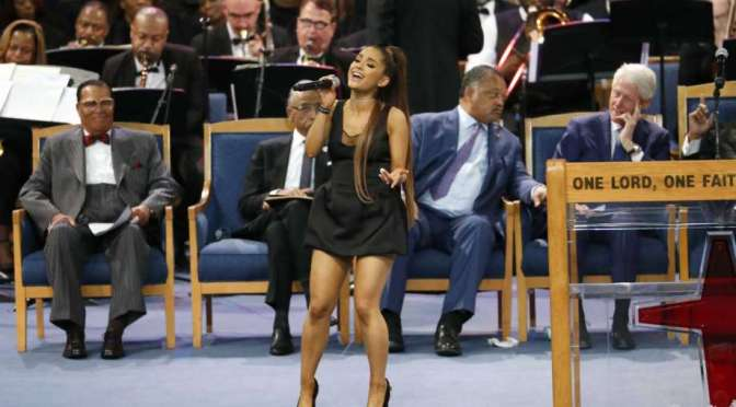 #ArethaHomegoing: #ArianaGrande performs 'Natural Woman' [vid]