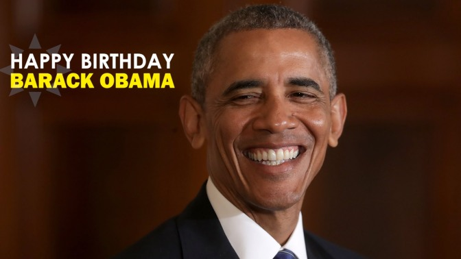 Happy #ObamaDay! The 44th #POTUS turns 57! [details]