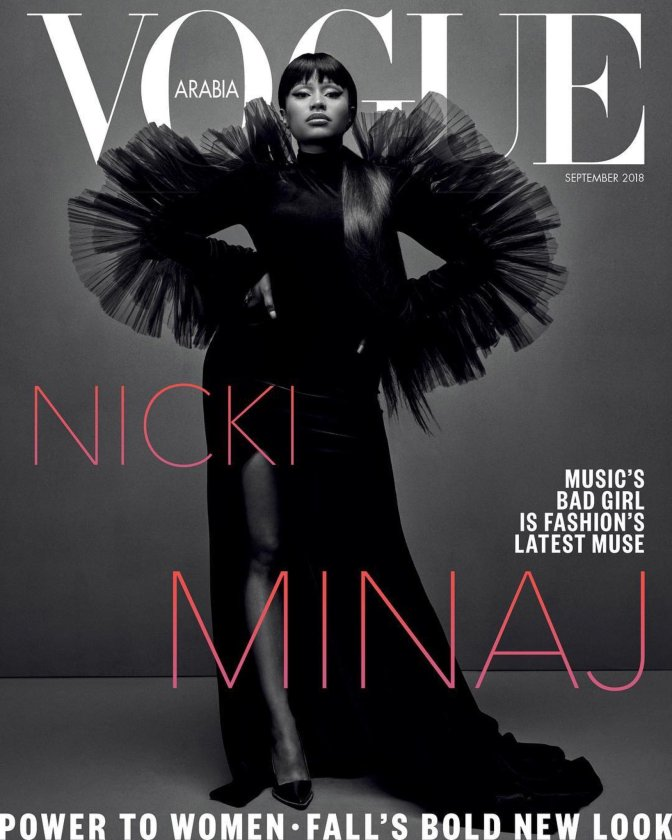 MAG TAG: #NickiMinaj covers #Vogue Arabia! [pic]