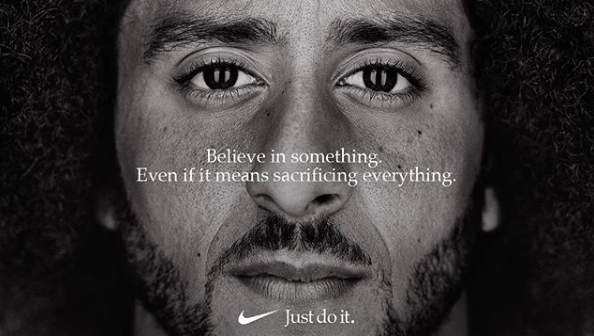 #ColinKaepernick–the face of #Nike's 30th Anniversary of #JustDoIt!