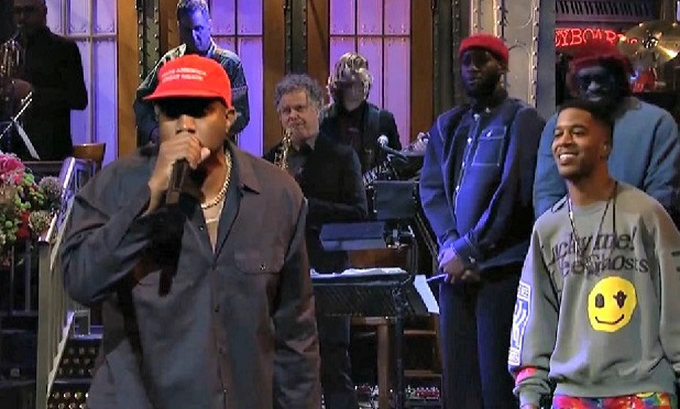 #SNL44- #KanyeWest goes on ODD Pro-Trump RANT![vid]