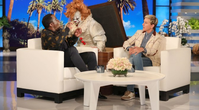 #Ellen scares the SH*T out of #Diddy with a CLOWN! [vid]