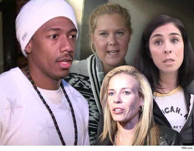 #NickCannon PULLS UP past HOMOPHOBIC tweets from #SarahSilverman #ChelseaHandler & #AmySchumer! [details]