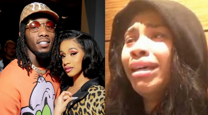 #Offset's ALLEGED mistress gives TEARFUL APOLOGY to #CardiB! [vid]