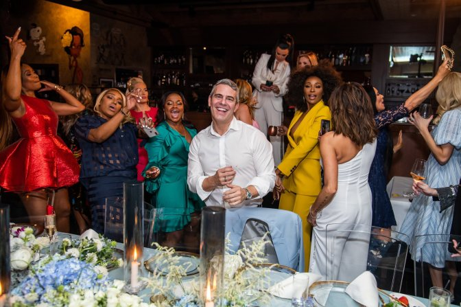 Bravo's #AndyCohen's BABY SHOWER was LIT with HOUSEWIVES past & Present! [vid]
