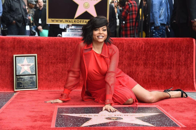 #TarajiPHenson receives a STAR on the #HollywoodWalkofFame! [vid]