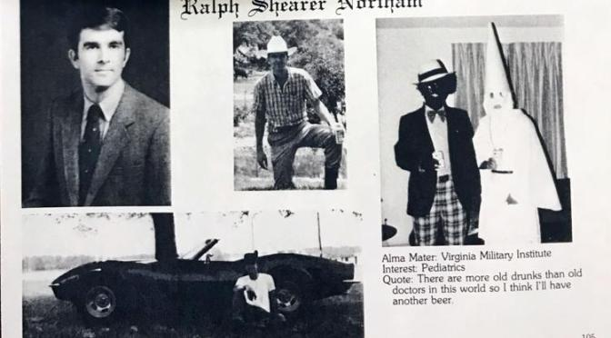 Virginia governor #RalphNortham #KKK & #Blackface pics SURFACE! Call for RESIGNATION! [details]