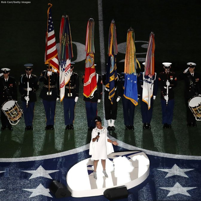 #SuperBowlLIII: #GladysKnight WOWS with the National Anthem! [vid]