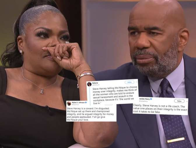 #SteveHarvey & #MoNique GO AT IT about her being 'BLACKBALLED' in Hollywood! [vid]