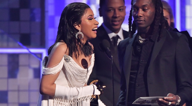 #GRAMMYS: #CardiB makes history becoming the 1st solo FEMALE to win best Rap Album! [details]