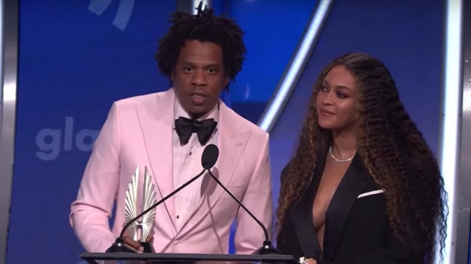 #Beyonce & #JayZ ACCEPT the Vanguard Award honor at 30th annual #GLAAD Awards! [vid]