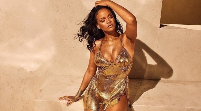 #Rihanna is a GOLDEN VISION in new #Fenty Advert! [details]