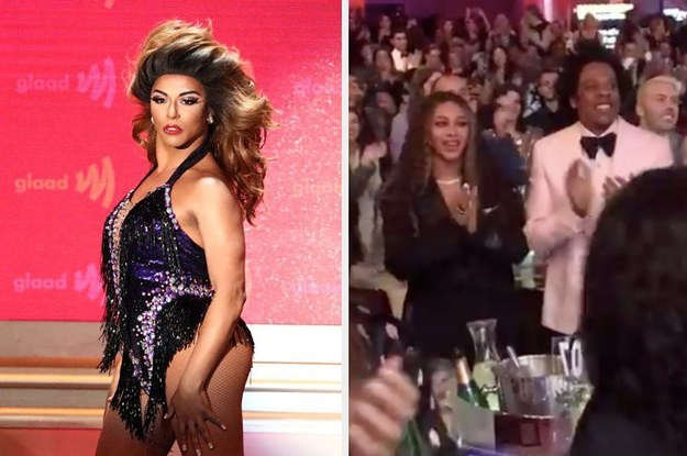 #Shangela PERFORMS a #Beyonce Medley at the #GLAADAwards-gets standing O from Bey! [vid]