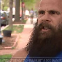 WHITE MAN suggests #Howard U MOVES if he can't walk his dog through campus![vid]