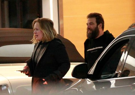 EXCLUSIVE: Adele and her husband Simon Konecki have a low key date night at BOA Steakhouse in Los Angeles