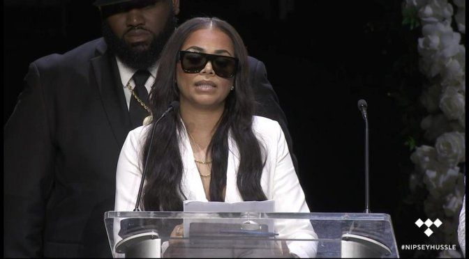 Watch #LaurenLondon's HEARTBREAKING tribute to her love, #Ermias bka #NipseyHussle! [vid]