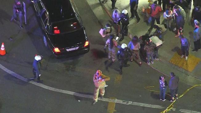 SHOTS FIRED?? UNREST and VIOLENCE breaks out at #NipseyHussle VIGIL! [LIVE]