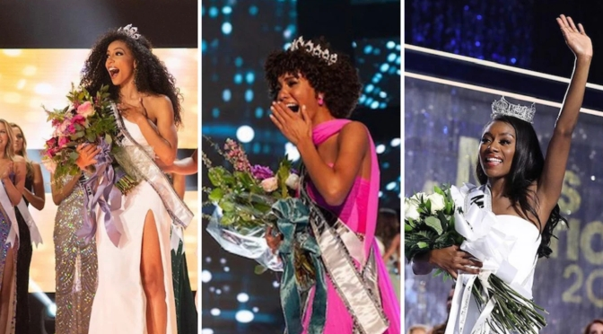 Historic FIRST! #MissUSA #MissAmerica & #MissTeenUSA are all BLACK simultaneously! [details]
