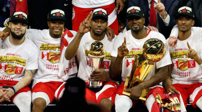 CONGRATS: #Raptors are #NBA Champs! #KawhiLeonard MVP! [vid]