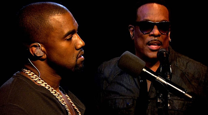 #KanyeWest & #CharlieWilson rocking SUITS in the studio! [VID]