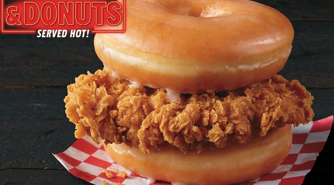 #KFC tests #DonutChickenSandwich! [vid]