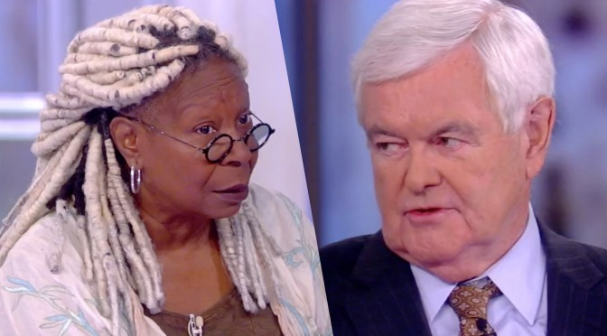 #TheView: Whoopi & #NewtGingrich lock horns over Trump 'lynching' remarks! [Vid]