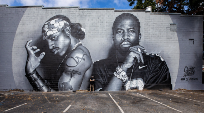 Atlanta pays homage to #Outkast with 30 ft. mural in #5Points! [Details]